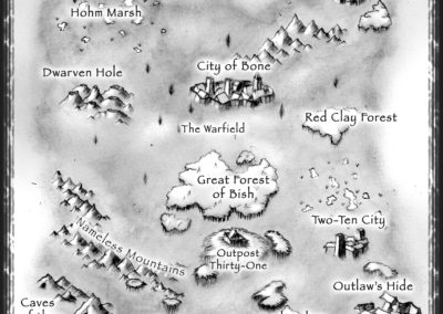 MAP OF BISH (HOME OF THE DARKSLAYER)