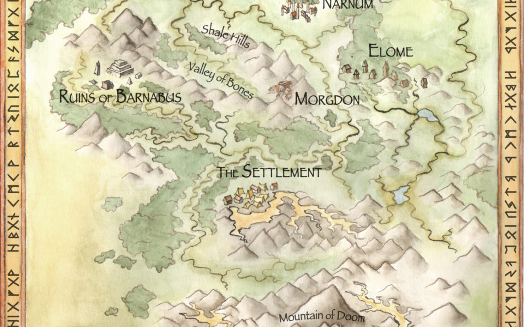 MAP OF NALZAMBOR (HOME OF NATH DRAGON)
