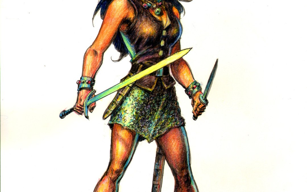 Jarla the Brigand Queen, The Darkslayer, Ernie Chan art