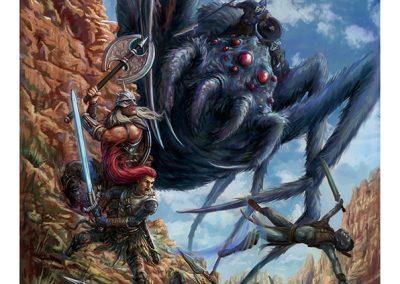 Clash of Heroes Book 2 Cover artwork by Joe Shawcross