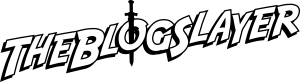 the Blog Slayer text outline logo black