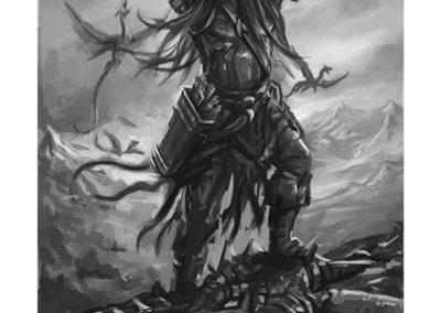 Nath Dragon, Black and White, by Joe Shawcross