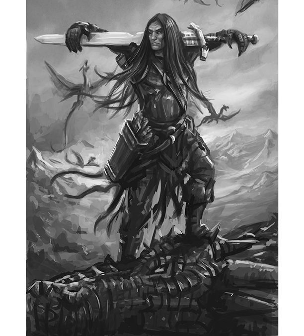Nath Dragon, Black and White, by Joe Shawcross