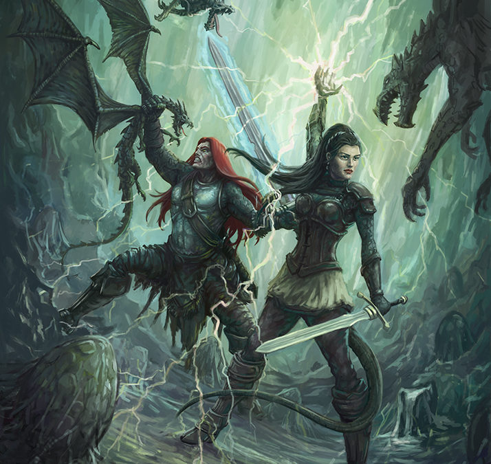Nath Dragon, High Priestess Selene, versus Wurmers: Wrath of the Dragon Cover